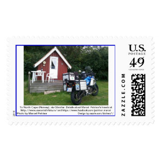 To North Cape (Norway), via Gibraltar 13 Postage