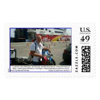 To North Cape (Norway), via Gibraltar 2 Postage