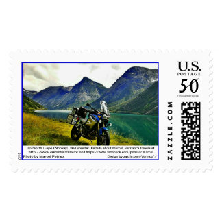 To North Cape (Norway), via Gibraltar. Postage