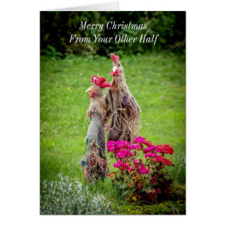To Old Hens Merry Christmas Greeting Card