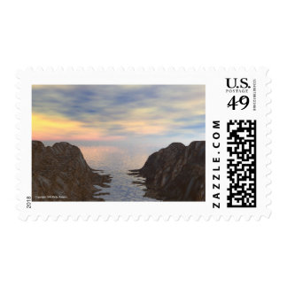 To Open Water Postage Stamp