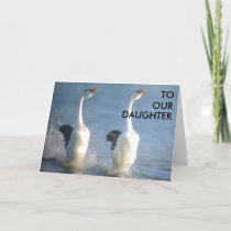"""""""TO OUR DAUGHTER"""" GRADUATION CARD"""