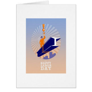 To our fellow workers Happy Labor Day Poster Greeting Card