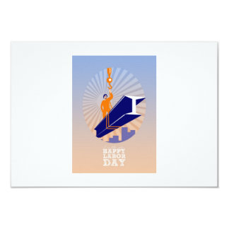 To our fellow workers Happy Labor Day Poster 9 Cm X 13 Cm Invitation Card