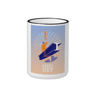 To our fellow workers Happy Labor Day Poster Ringer Mug