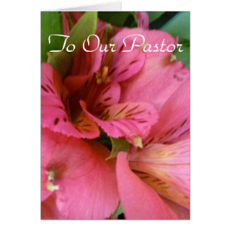 TO OUR PASTOR CARD