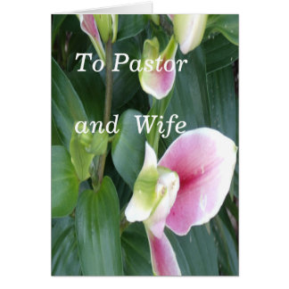To Pastor and Wife Card