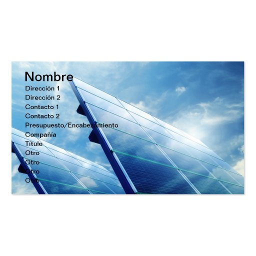 TO PAVE ENERGY Double-Sided STANDARD BUSINESS CARDS (Pack OF 100)