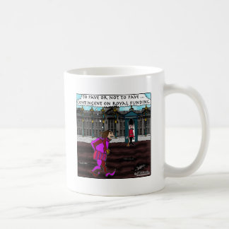 To pave or not to pave, that is the question. coffee mug