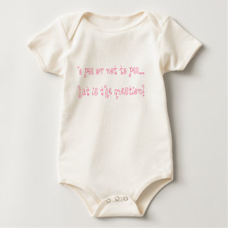 To pee or not to pee...that is the question! baby bodysuits