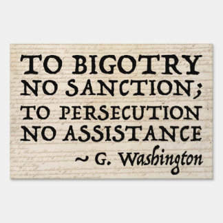 To Persecution No Assistance 36x24 Yard Sign