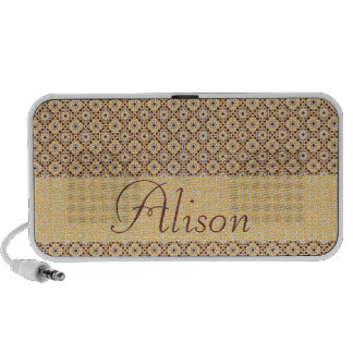To personalize name. Arabesque mosaic of Morocco Speaker