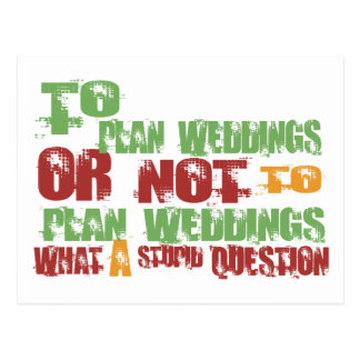 To Plan Weddings Postcard