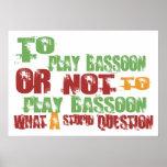 To Play Bassoon Print