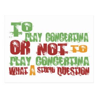To Play Concertina Postcard