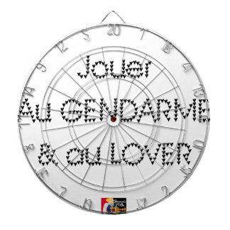 To play the GENDARME and COILING - Word games Dart Board
