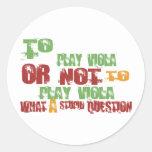 To Play Viola Round Sticker