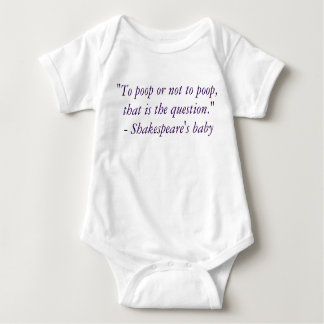 To poop or not to poop - culture+potty humor! baby bodysuit
