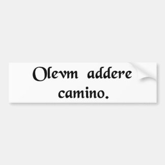 To pour fuel on the stove. car bumper sticker