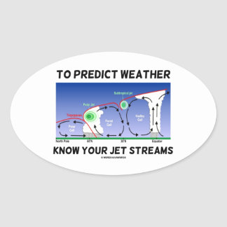 To Predict Weather Know Your Jet Streams Oval Sticker