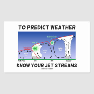 To Predict Weather Know Your Jet Streams Rectangular Sticker