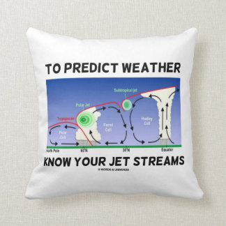 To Predict Weather Know Your Jet Streams Throw Pillow