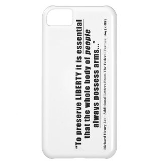 To preserve liberty Quote by Richard Henry Lee iPhone 5C Case