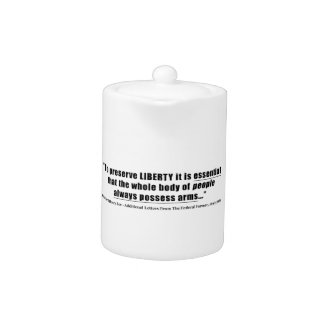 To preserve liberty Quote by Richard Henry Lee Teapot
