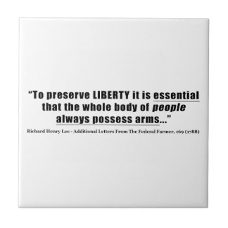 To preserve liberty Quote by Richard Henry Lee Tile