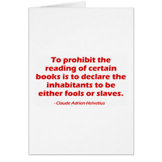 To Prohibit The Reading of Certain Books Cards