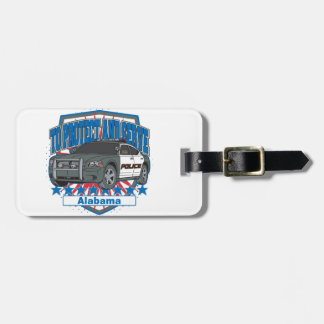 To Protect and Serve Alabama Police Car Bag Tag
