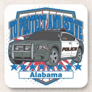To Protect and Serve Alabama Police Car Coaster