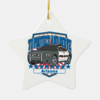 To Protect and Serve Arizona Police Car Christmas Tree Ornament