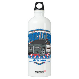 To Protect and Serve Arizona Police Car Water Bottle