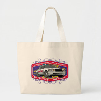 To Protect and Serve Large Tote Bag