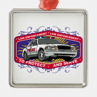 To Protect and Serve Metal Ornament