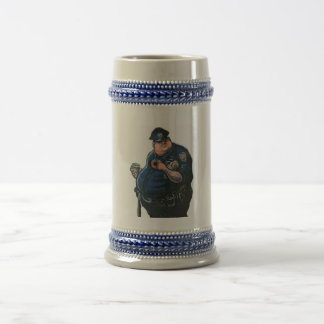 To protect and serve myself beer stein
