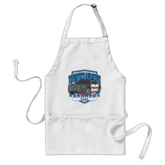To Protect and Serve Police Car Iowa Adult Apron