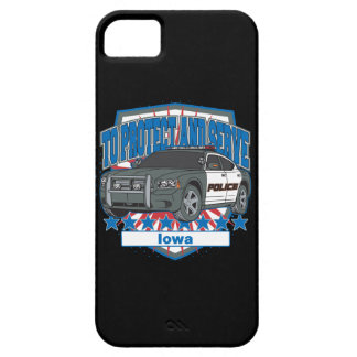 To Protect and Serve Police Car Iowa iPhone SE/5/5s Case