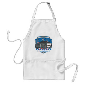 To Protect and Serve Police Car State of Louisiana Adult Apron