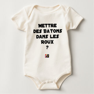 To put Sticks in the Russet-red ones? - Word games Baby Bodysuit