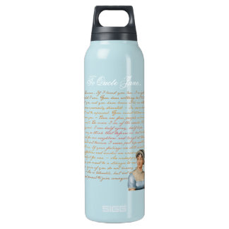 To Quote Jane Austen Pride and Prejudice Janeite Thermos Water Bottle