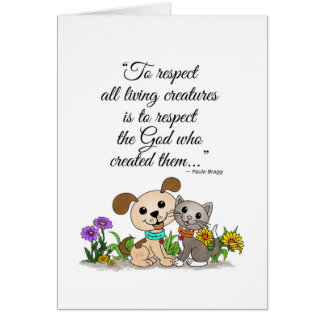 To respect all living creatures (BowWow & MeeYow) Card