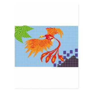 To resurge of the bird fenix postcard