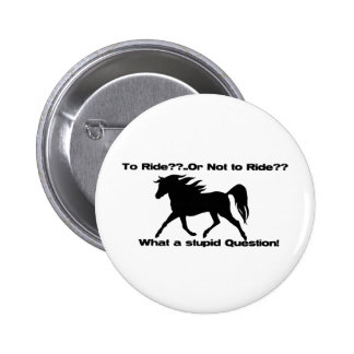 To Ride Horse shirt Buttons