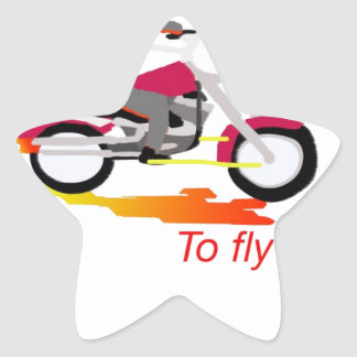 To Ride is to fly Star Sticker