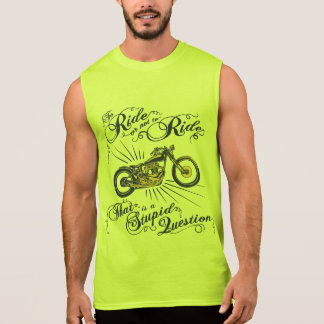 To Ride or Not II Sleeveless Shirt