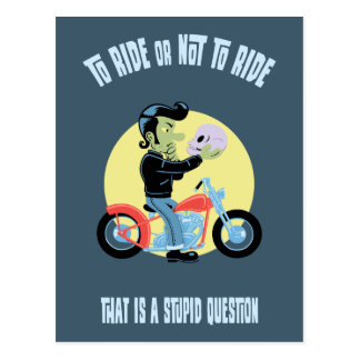 To Ride or Not to Ride Postcard