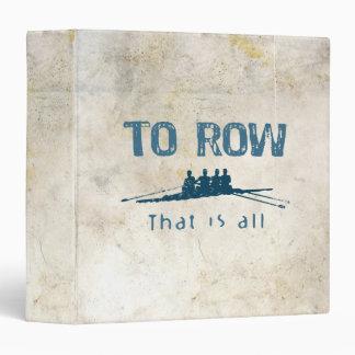 To Row Vinyl Binders