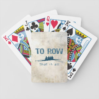 To Row Playing Cards